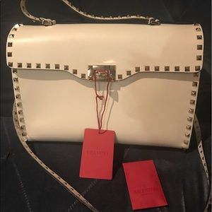 Valentino Garavani Handbags - Valentino Single Handle Satchel Off White Bag