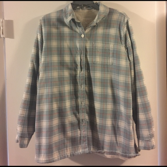 cdcadb57ac7e3 L.L. Bean Tops - Women s L.L. Bean Fleece Lined Flannel