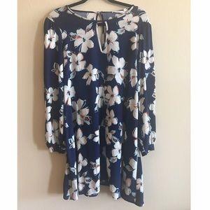 Lush Dresses & Skirts - Navy Floral Dress