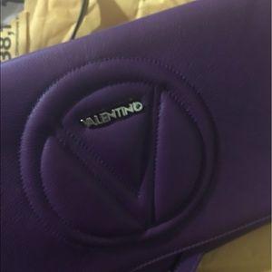 Mario Valentino Handbags - Valentino purple clutch