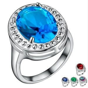 Jewelry - New!! Round Cut Light Blue Cz Solitaire Ring