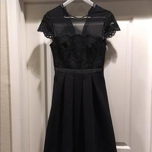 7b2a7950e610 Ted Baker Dresses - Ted baker frizay lace bodice black flared dress