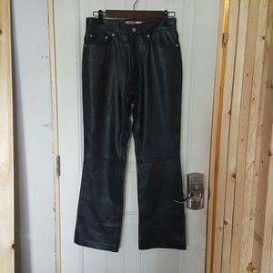 Vintage Old Navy Genuine Leather Bootcut Pants