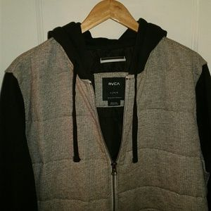 RVCA Other - Mens hooded RVCA zip up jacket