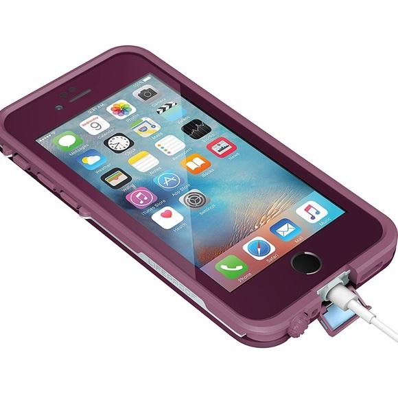 Purple Lifeproof Case Iphone  Plus