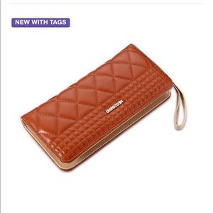 Handbags - Cute brown leather clutch purse