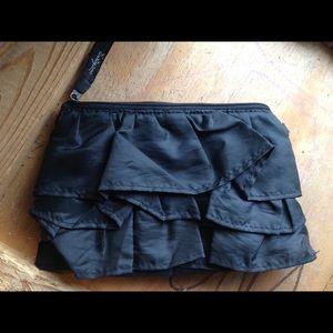 thirty one Handbags - Thirty One  ruffled wristlet wallet black