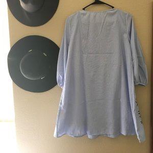 Dresses - Embroidered babydoll dress