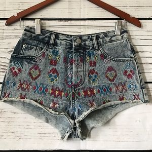 Topshop Pants - Top shop Aztec Embroidered shorts