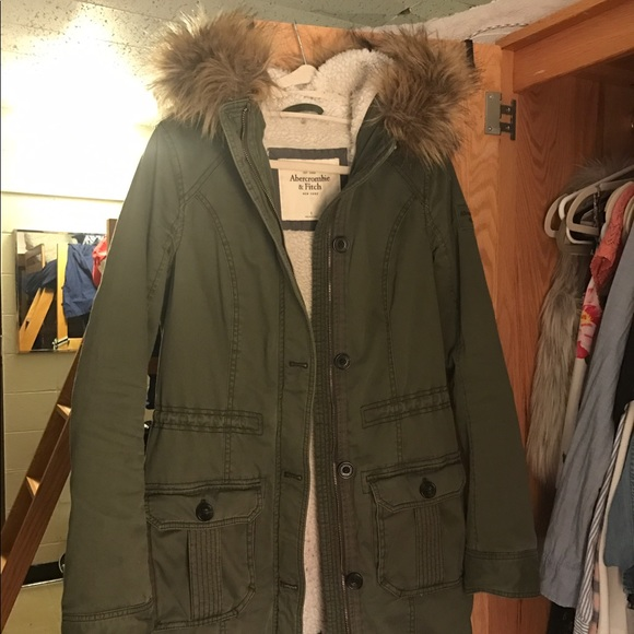 Abercrombie and Fitch Meg Sherpa Parka Small