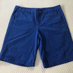 Cuffed khaki shorts by gap