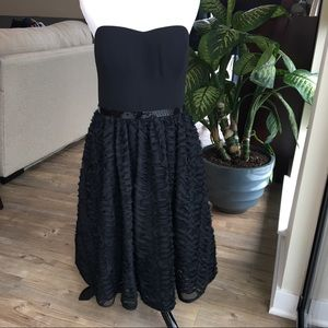Calvin Klein Little Black Strapless Party Dress