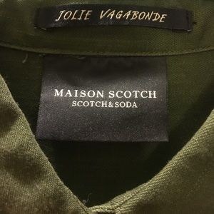 Scotch & Soda Tops - Scotch & Soda Army Green Shirt