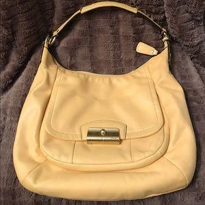 Coach Handbags - COACH Butter Yellow Leather Purse