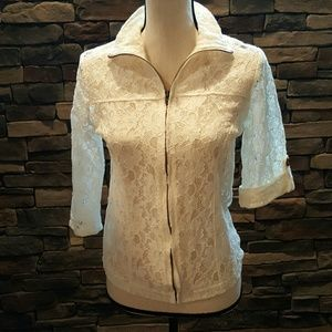Maurices 3/4 Sleeve Lace Jacket M