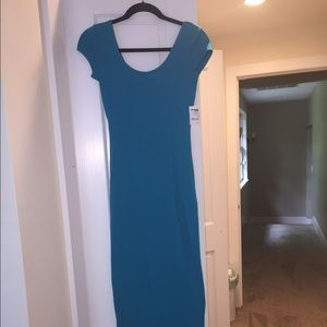 Teal Charlotte Russe Maxi Dress