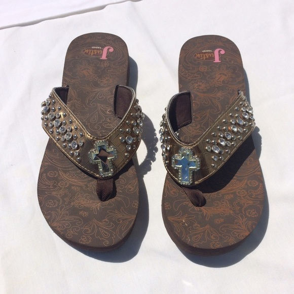 35e2e651436ed5 Justin Boots Shoes - Brown Women s Justin Western Sandals Size 11