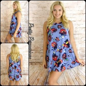Pretty Persuasions Dresses & Skirts - NWT Blue Floral Print Shift Dress Tunic