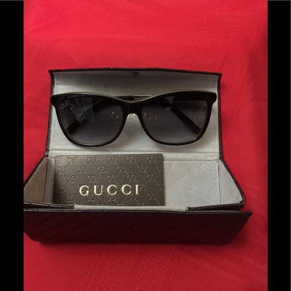 c38f60c3f85 Gucci sunglasses gold tone frame brand new.