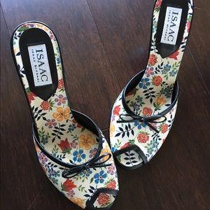 Isaac Mizrahi Floral Heels