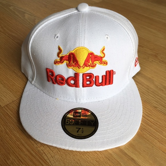 342c8bb0e2e14 New Era Accessories | White Red Bull Fitted Hat | Poshmark