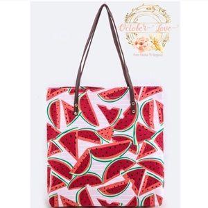 October Love Handbags - The Perfect Summer Tote Bag - Watermelon canvas
