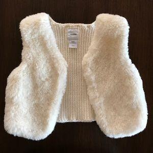 Faux fur Baby Gap vest