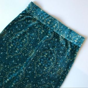 Ecote Dresses & Skirts - Ecote Teal Green Turquoise Velvet Tapestry Skirt S