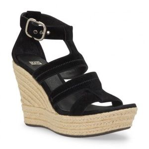 UGG Shoes - UGG Lauri Sandal suede espadrille wedge 7