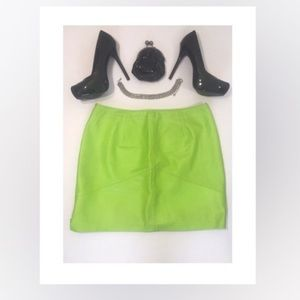 Dresses & Skirts - Sexy Green Leather Skirt