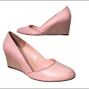 lulu guinness  Shoes - LULU GUINNESS $440 pink metallic wedge shoes