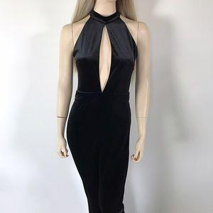 Black Velvet Jumpsuit By Stella Luce 