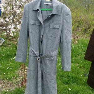 Angelica Jackets & Blazers - Nice gray trench coat size 12