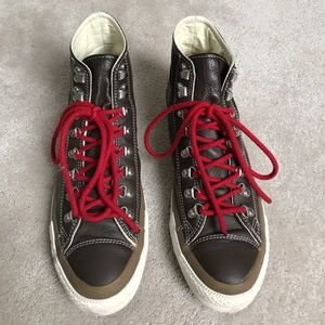 Converse Shoes - Converse leather high top sneakers 11.5