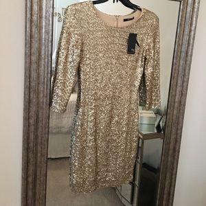 TFNC London Gold Sequin Dress