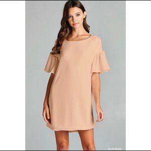 Hannah Beury Dresses & Skirts - Blushrose Bell Sleeve Shift Dress
