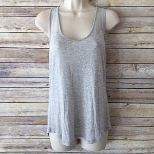 Trouve Tops - TROUVE Light Gray Tank w/ sheer shoulder straps