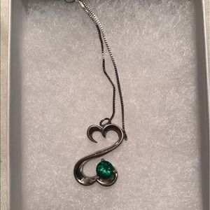 Kay Jewelers Jewelry - KAYS JEWELERS OPEN HEART EMERALD NECKLACE