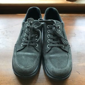 Ara Shoes - Ara brand Gore-Tex grey suede lace up shoes.