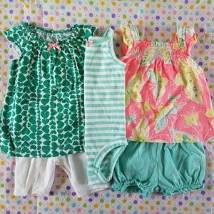 Carter's Other - 🎉HP!🎉 Bundle Carters Summer Outfits 0-3 Months