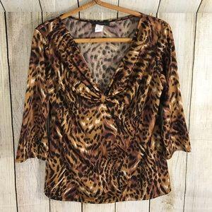 American City Wear Tops - American City Wear Leopard cheetah print top