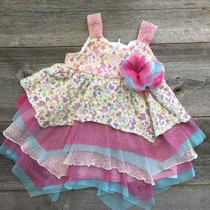 Isobella & Chloe Other - Isobella & Chloe Lace Handkerchief Dress