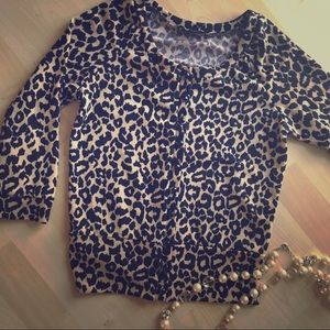 Lily White Tops - Lily White Leopard Print Cardigan