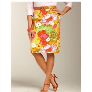 Talbots Dresses & Skirts - BNWT Talbots painted floral pencil skirt 12