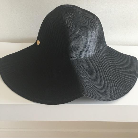 9b1eb2865 Eric Javits Black Wide-Brim Sun Hat