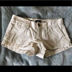 American Eagle Outfitters Pants - AEO White Corduroy shorts