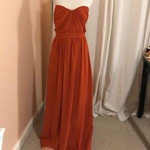 Burnt orange plus size gown