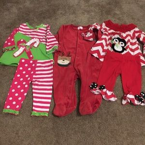 Rare Editions Other - Final sale! Baby girl 6m holiday Christmas outfits