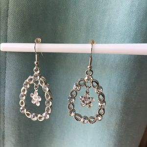 Shamrock Crystal Dangle Drop earrings