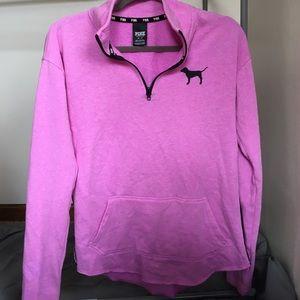 Victoria Secret PINK half-zip sweatshirt (XS)